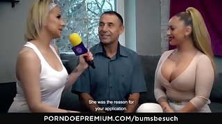 BOOTIES BESUCH - Huge-Chested German excrement starlet Dana Jayn tears up mature uncomplicated fanboy