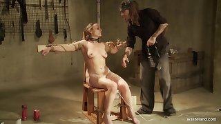 Plump baby Nora is tied up and punished by one kinky misapply