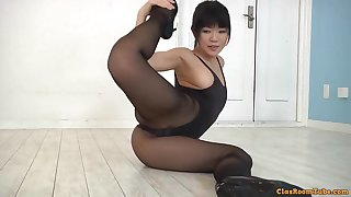 Flexible asian girl hot erotic integument