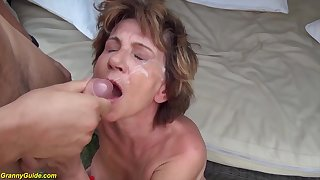 76 era old granny sporadic out of order by big dick