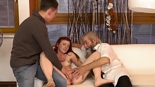 Adult school uniform Unexpected consent to with an older