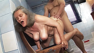 busty 83 age old mom rough fucked