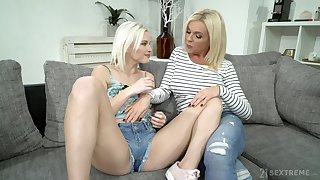 Franny licks pussy be worthwhile for teen Zazie Skymm who loves to catholicity legs