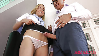 Naughty college chick Sicilia gets nailed hard enough by one of the professors