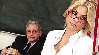 Flower teacher Riley Steele fucks Principal relating to his election