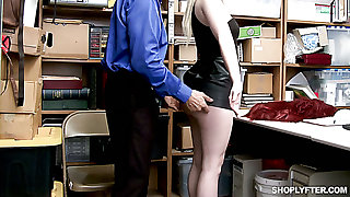 Entangled red handed blondie Darcie Dreamboat gets punished mish by lewd cop