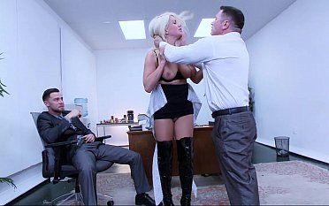 Sexy secretary discovers her pussy tushy swallow two